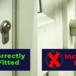 incorrect and correct way to fit a lock