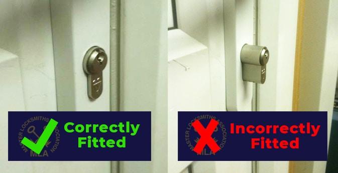 Incorrect lock fitting